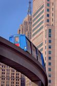 Centrum detroit pociąg jednotorowy — Zdjęcie stockowe