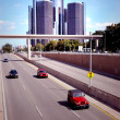 Stock Photo: Traffic Downtown Detroit