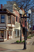 Main Street Business District — Stock Photo