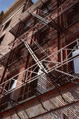 Old Architecture with Fire Escape — Stock Photo