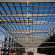 Structural Steel Framing - Stock Photo