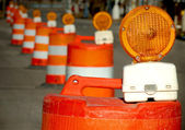 Construction Zone Barrels — Stock Photo