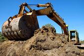 Excavation Crane Scoop — Stock Photo