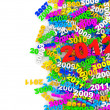 Abstract Illustration of New Year 2012 with place for your text — Stock Photo