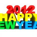 Happy New Year 2012 - Стоковая фотография.