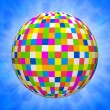 Digital illustration of a many colored ball — Foto Stock