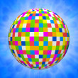 Digital illustration of a many colored ball — ストック写真