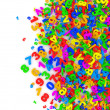 Stock Photo: Colorful Numbers Abstract Background with place for your text
