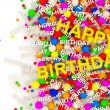 Happy Birthday Background with place for your text — Stock Photo