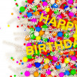 Happy Birthday Background with place for your text — Stock Photo #7241765
