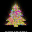 Glowing New Year Tree Abstract Background — Stock Photo