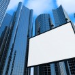 Modern Business Centers and Billboard — Stock Photo
