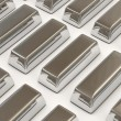Royalty-Free Stock Photo: Silver Bars on white background