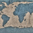 Old Grunge World Map — Stock Photo