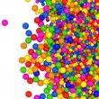 Many colored balls abstract background with place for your text — Stock Photo #7242364