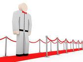 3d Man on white tuxedo at the awards ceremony — Stock Photo