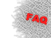 FAQ Concept Background — Stok fotoğraf