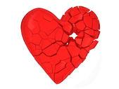 Broken Heart on white background — Stockfoto