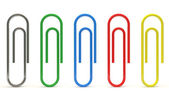 Set of Paper Clips — Stock Photo