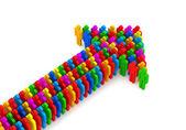 šipka z barevné 3d — Stock fotografie