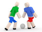 3d Football Players on white background — Stockfoto