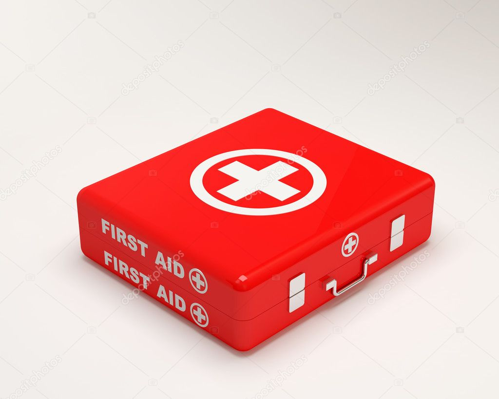 First Aid Case on white background  Stock Photo #7241655