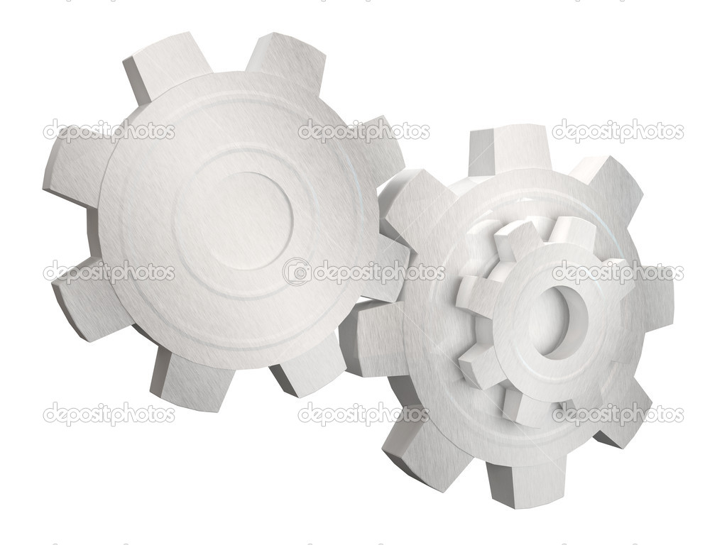 Metal Gears on white background  Stock Photo #7241679