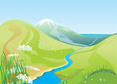 River and hills — Stock Photo