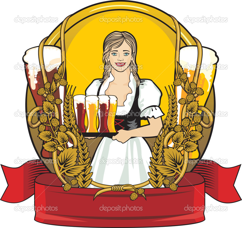 Beer Label Festival  Stock Illustration
