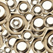 Stock Photo: Steel Nuts