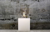 White candle — Stock Photo