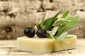 Soap and olive — Stock Photo