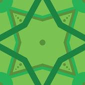 Zielony ornament bez szwu — Wektor stockowy