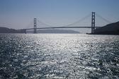 The Golden Gate Bridge silhouette — Stock Photo