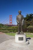 The Golden Gate Bridge w Joseph B. Strauss — Stock Photo