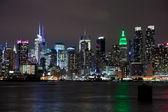 The New York City Uptown skyline — Stock Photo