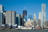 The New York City Downtown w the Freedom tower — Stock Photo