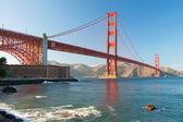 Most golden gate v san Franciscu během západu slunce — Stock fotografie