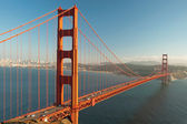 The Golden Gate Bridge in San Francisco during the sunset — Stock Photo