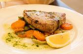 Pan-Fried Tuna Steaks. — Stock Photo