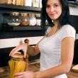 Woman preparing lunch - Stock Photo