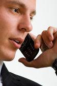 Phone businessman — Stock Photo