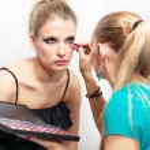 Make-up session - white background — Stock Photo #7600863