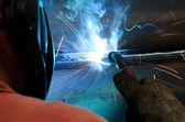 Welding process in detail — Stock Photo