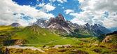 Italian Dolomiti - nice panoramic view — Stock Photo