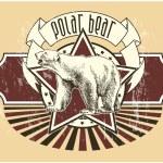 etiqueta con un oso polar — Vector de stock  #7133826