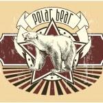 Label with a polar bear — Stock vektor #7133826