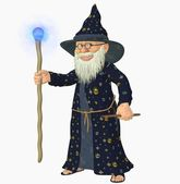 Old wizard — Stock Photo