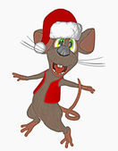 Christmas mouse — Stock Photo