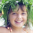 Smiling girl at the river — Stock Photo